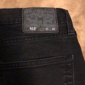 Black 31x32 Levi's 512 Jeans